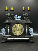 Haunted Mansion Ghost Clock Art By Aaron Goodwin 1/1 Painting Size 12x10