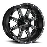 4 22x12 Fuel Gloss Black Maverick Wheel 5x139.7 5x150 For Ford Jeep Gm