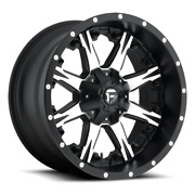 4 20x10 Fuel Black And Machined Nutz Wheel 5x139.7 5x150 For Ford Jeep Gm
