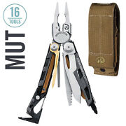 Leatherman Mut Multitool, Stainless With Molle Brown Sheath