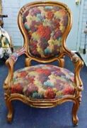 Parlor Arm Chair Ladies 19th Century With Front Leg Casters Den Tea Room