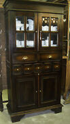 Antique Style Country French Bevel Glass Solid Wood Handfinished Kitchen Cabinet