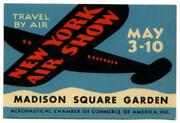 The New York Air Show Madison Square Garden - New York City Old Poster Stamp