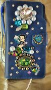 For Galaxy Note 10 Pro Betty Boop Wallet Case Peacock Colors Jeweled