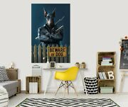 3d Beware Dog Warrior D111 Wall Stickers Wall Mural Decals Vincent Angelia