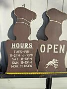 Custom Chef Profile Signs. Urban/modern/industrial. Vintage Wood. Commercial.