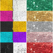 Glitter Sequin Fabric 50 Wide By The Yard Wedding Party Christmas Decoration