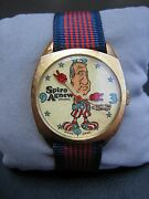Vtg Original Spiro Agnew Dirty Time Co Watch Works New Old Stock Wind Up