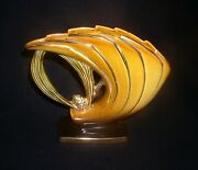 Rare Krause Experimental Trial Glaze In Gold Roseville Pine Cone Ii 472-6