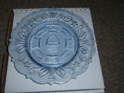 Longaberger Heisey 1996 Blue Dresden Tour Plate. 2nd In A Series Of 4 New