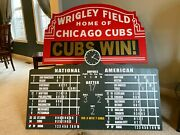 Wrigley Field Chicago Cubs Scoreboard And Large Custom Marquee 4 Feet Wide