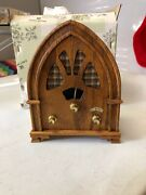 Vtg New Artistry In Wood Willitts Radio Wooden Music Box Plays As Time Goes By