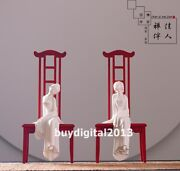 China Dehua White Porcelain And Pottery Ancient Beauty Women Girl Belle Sculpture