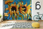 3d Yellow Sunflow G113 Wallpaper Mural Self-adhesive Removable Dena Tollefson An