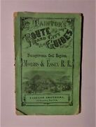 1867 Taintors Route And City Guide, Morris And Essex Railroad Pa, 4 Color Maps