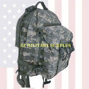 Us Military Assault Pack Heavy Duty Three Day Molle Ii Acu Backpack W/stiffener