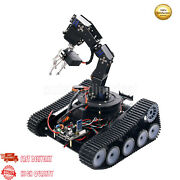 Robot Tank Car 6dof Mechanical Arm Tracking Gripping Support Ps2 App Control Os1