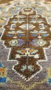 Vintage 1950-1960s Bohemian Turkish Oushak Runner 2and03910x 7and0398