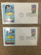 Nwt Sylvester And Tweety Bird Stamp Sheet First Day Issue Letter And Stamp