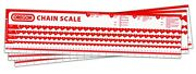 Chainsaw Chain Scale Drive Link Measuring Chart For Workbench Oregon 533129