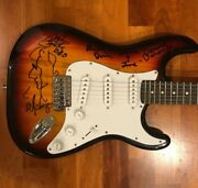 Alice Cooper Band Signed Electric Guitar Dunaway, Smith, Bruce Coa Proof 1