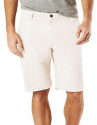 Nwt Dockers Men's Stretch Perfect Short Classic Fit D3 Shorts 9.5 White Size 34