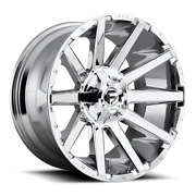 4 20x9 D614 Fuel Chrome Contra Wheels 6x135 And 6x139.7 For Ford Jeep