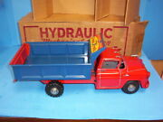 Vintage 1950and039s Marx Hydraulic Mechanical Action Dump Truck Nmib
