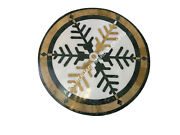 29 Marble Round Coffee Table Top Inlay Kitchen Center Christmas Decor E1510