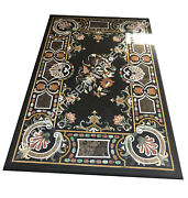 Marble Big Dining Table Top Marquetry Inlay Stone Hallway Christmas Decor E1538