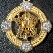 Vintage ' Eiffel Tower In France ' Charm / Pendant, Gold 18k, The 70s, 4.9 Gr