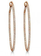 2.81ct Natural Round Diamond 14k Sold Rose Gold Snap Closure Earring