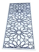 5and039x2.5and039 Marble Hallway Dining Table Top Lapis Lazuli Inlay Handmade Decor E1536