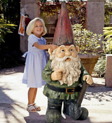 Child Sized 45 Giant Garden Gnome Statue Off To Work Collectible Outdoor Decor
