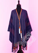 New Hermes 25 Off Gray Blue Bivouac Rocabar Poncho Cape Shawl Jacket Sweater