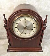 Vintage New Haven Durham Cathedral Mantel Clock W/ Westminster Chime Runs