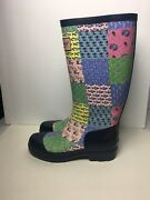 Vineyard Vines Womenand039s Ladies Rain Boots Navy Whale Pattern Multi-colo Us Size 6