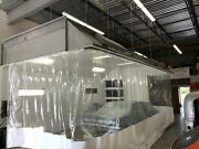 Industrial Commercial Clear Pvc Auto Body Painting Booth Curtain Enclosure Wall