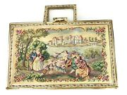 Antique Andldquoqueen Of Petit Pointandrdquo Tapestry Purse For Spritzer And Fuhrmann In Box