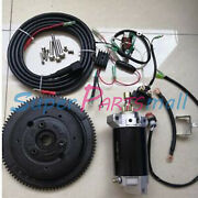 Electric Start Kit For Yamaha Outboard E40x 40hp 2 Stroke Enduro 66t