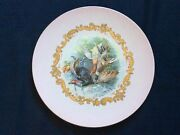 Antique Russian Imperial Kuznetsov Porcelain Wall Plaque Plate 13andrdquo 24k Gold