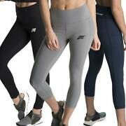 Feed The Gains Womens Clothing Active Figure Capri Leggings Stretch Gym Wear