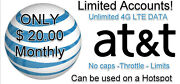 Atandt Unlimited 4g Lte Data Account - You Own It 20.00 Monthly