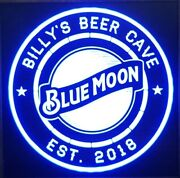 Custom Beer Blue Moon Beer Led Sign Personalized, Home Bar Sign