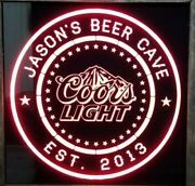 Custom Coors Light Beer Led Sign Personalized