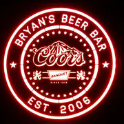 Custom Coors Banquet Beer Led Sign Personalized, Home Bar Pub Sign, Lighted Sign