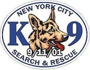 Ny Police K-9 Search And Rescue 9/11/01 Reflective Vinyl Decal Sticker
