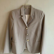 Vintage Handmade Pale Grey Jacket Blazer Coat With Owl Buttons L 12