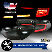 Fit 08-11 Impreza/08-14 Wrx 3d/5d Blk/smoke Sequential Signal Led Bar Tail Lamp