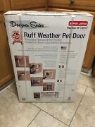 Ruff Weather Pet Door W/telescoping Frame Super Large Flap Size For Dogs And Cats
